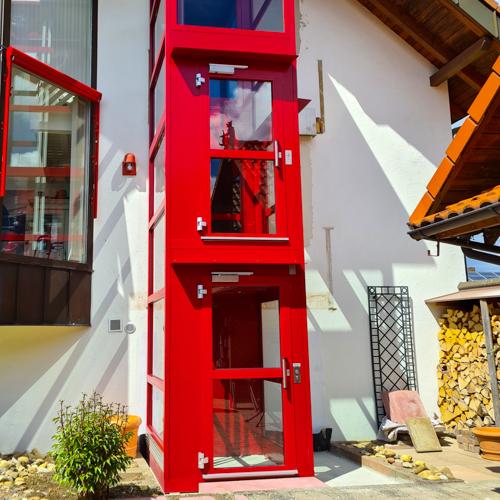 Einbaubeispiele LIftTec Privathaus Trossingen Aussenlift